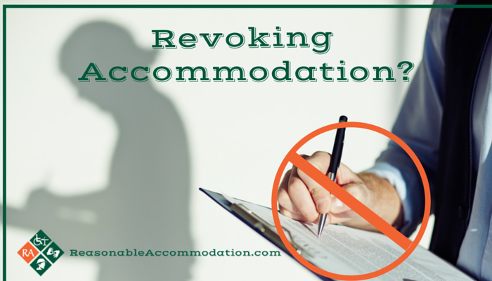 Revoking Accommodation