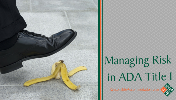 Managing Risk in ADA Title I