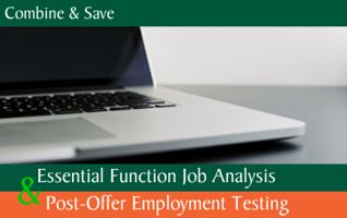 Post-Offer & Essential Function Job Analysis
