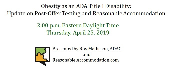 Invitation to register for a free ADA Title 1 webinar.